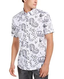 INC Men's Regular-Fit Graffiti-Print Shirt, Created For Macy's