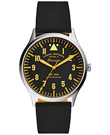 Men's Forrester Black Silicone Strap Watch 42mm