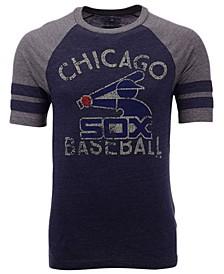 Men's Chicago White Sox Coop Stripes Earned Raglan T-Shirt