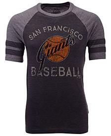 Men's San Francisco Giants Coop Stripes Earned Raglan T-Shirt