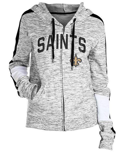 Women S New Orleans Saints Space Dye Full Zip Hoodie