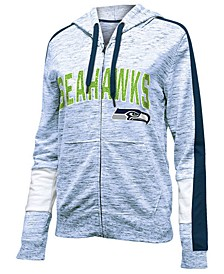 Women's Seattle Seahawks Space Dye Full-Zip Hoodie