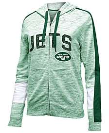 Women's New York Jets Space Dye Full-Zip Hoodie