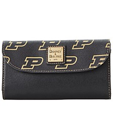 Purdue Boilermakers Saffiano Continental Clutch