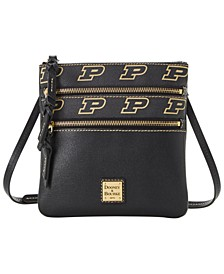 Purdue Boilermakers Saffiano Triple Zip Crossbody
