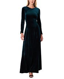Velvet V-Back Gown