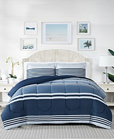 Cole Stripe 3-Pc. Full/Queen Comforter Mini Set, Created For Macy's