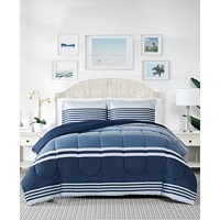 Pem America Cole Stripe 2-Pieces Twin Comforter Mini Set