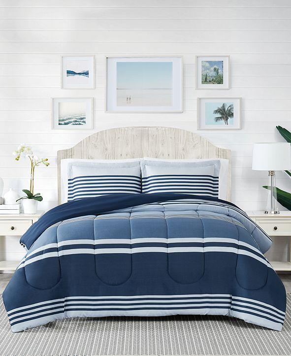 Pem America Cole Stripe 2-Pc. Twin Comforter Mini Set, Created for Macy's
