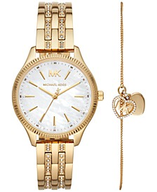 Women's Lexington Gold-Tone Stainless Steel Bracelet Watch 36mm Gift Set