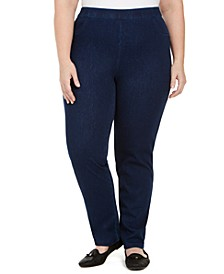 Plus Size Autumn Harvest Knit Denim Jeggings