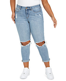 Celebrity Pink Plus Size Girlfriend Ripped Ankle Jeans