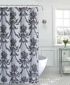 Jolin Floral Fabric Shower Curtain