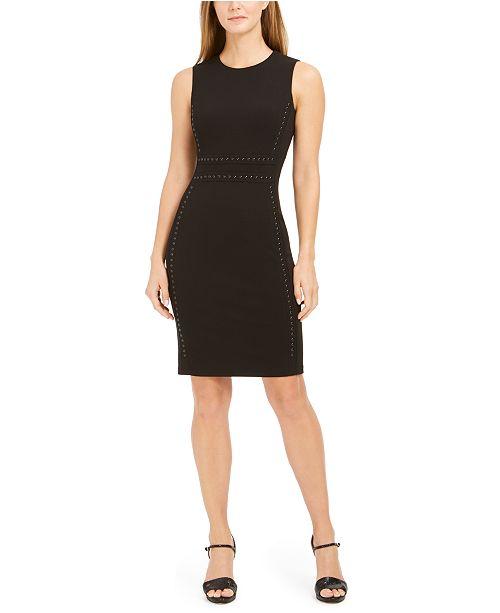 Calvin Klein Petite Studded Sheath Dress