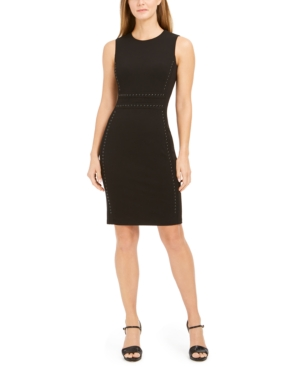 Calvin Klein Dresses TONAL-STUDDED SHEATH DRESS