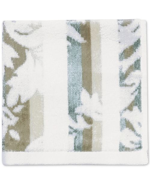 "CHF Damask Stripe Cotton 12"" x 12"" Wash Cloth"