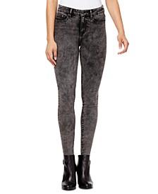 High-Rise Raw-Edge Jeans