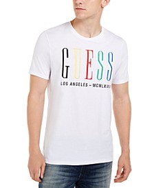 Men's Multicolor Embroidered Logo T-Shirt