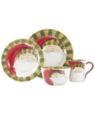 Old St. Nick Striped Hat 4 Piece Place Setting