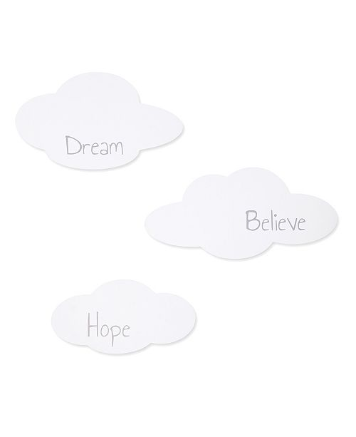 Trend Lab Clouds 3-Piece Wooden Wall Decor Set