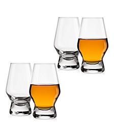 Halo Whiskey Glasses Set of 4