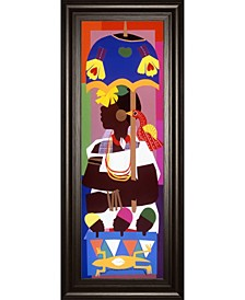 "Ashanti by Varnette Honeywood Framed Print Wall Art, 18"" x 42"""