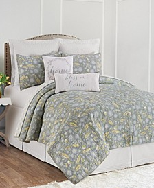 Dandelion Court Full Queen Quilt Set