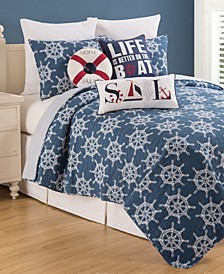 Maritime Full Queen Quilt Set