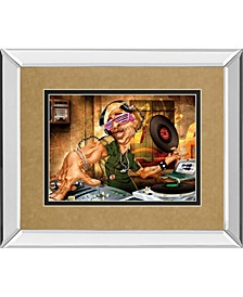 "Dj Frank by Adam Perez Mirror Framed Print Wall Art, 34"" x 40"""