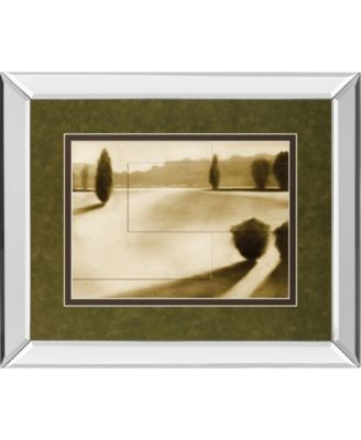 """Cyprus Eclipse II by Brent Collins Mirror Framed Print Wall Art, 34"""" x 40"""""""