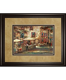"""Courtyard Cafe by Ruanne Manning Framed Print Wall Art, 34"""" x 40"""""""