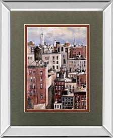 "Big Apple by D Lourengo Mirror Framed Print Wall Art, 34"" x 40"""