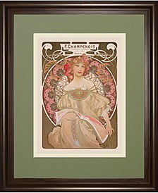 "Reverie, 1897 by Alphonse Mucha Framed Print Wall Art, 34"" x 40"""