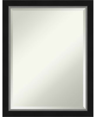 "Eva Silver-tone Framed Bathroom Vanity Wall Mirror, 21.12"" x 27.12"""