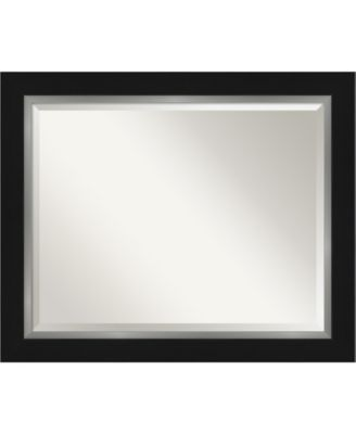 "Eva Silver-tone Framed Bathroom Vanity Wall Mirror, 33.25"" x 27.25"""
