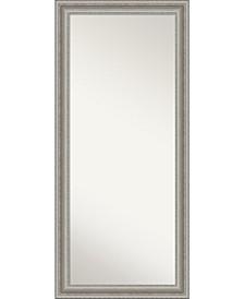 "Parlor Silver-tone Framed Floor/Leaner Full Length Mirror, 29.5"" x 65.50"""