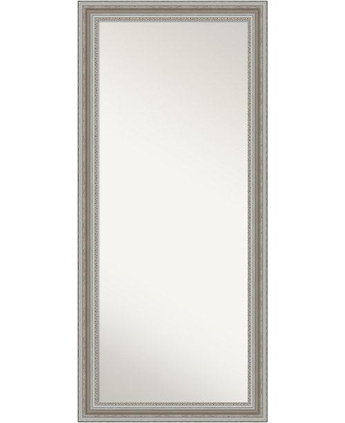 Amanti Art Parlor Silver Tone Framed Floor Leaner Full Length