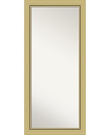 """Landon Gold-tone Framed Floor/Leaner Full Length Mirror, 30.38"""" x 66.38"""""""