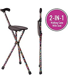 2-in-1 Walking Cane Seat and Seat Stick