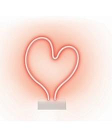 Neon Heart Shaped Desk Lamp