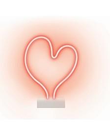 Brilliant Ideas Neon Heart Shaped Desk Lamp