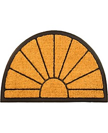 "Sunrise Rubber Backing Coco Welcome Doormat, 18"" x 30"""