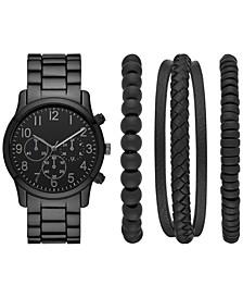 Men's Gunmetal Bracelet Watch 44mm Box Set