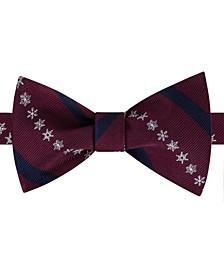 Men's Snowflake Stripe Bow Tie