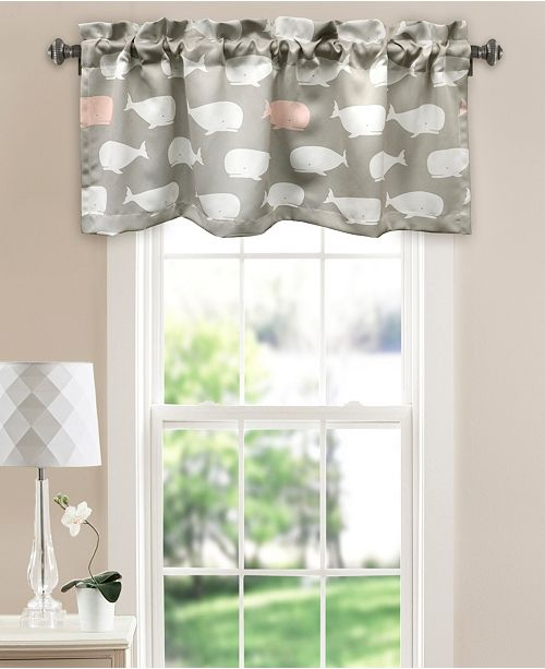 "Lush Decor Whale Print 52"" x 18"" Window Valance"