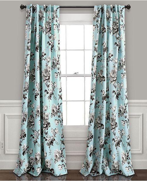 "Lush Decor Tania Floral 52"" x 95"" Curtain Set"