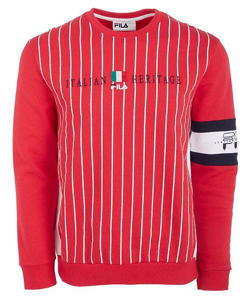 Fila Men's Pinstriped Sweatshirt