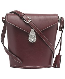 Lock Leather Bucket Bag