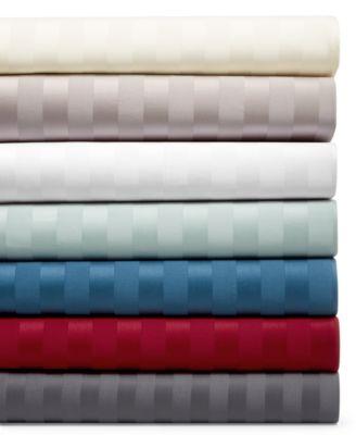 Extra Pocket 5 Piece Split Sheet set 1000TC Pima Cotton All Size White Stripe