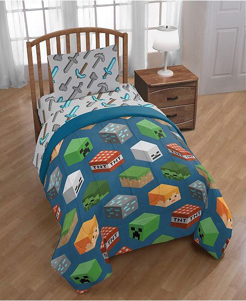 Minecraft 4-Piece Twin Comforter Set